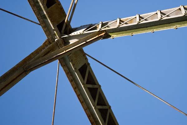8/2010:  Detail of Butler iron bridge, Miami County.