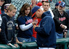 Jeff Forman/JForman@News-Herald.com<br /> Indians manager Terry Francona signs autographs before the Indians game against the White Sox Wednesday at Progressive Field
