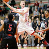 Don Knight / The Herald Bulletin<br /> Anderson's Jacob Steineman shoots as the Indians hosted the Logansport Berries on Friday.