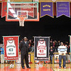 Don Knight / The Herald Bulletin<br /> During half time of their game against Muncie Central Anderson honored Roy Taylor, Ray Tolbert and Kojak Fuller. The banners bearing their name and number will be displayed in the gym.