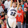 Pendleton Heights' Nick Moore shoots from three-point range as the Arabians and Anderson Indians played for the county championship on Friday.