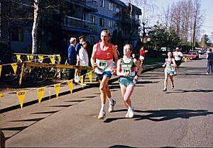 Individuals - Dan Fraser and Bonny Stratton finishing the Comox Half Marathon