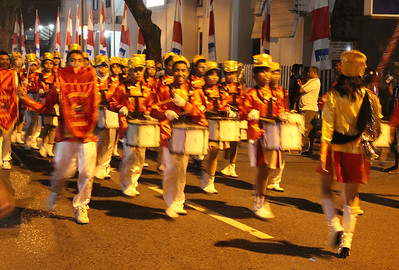 parade for indonesian independence day. ambon