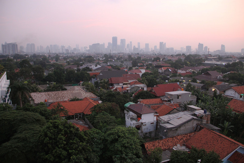 first morning glimpse of jakarta