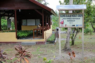 cacao farmers community learning center. seram