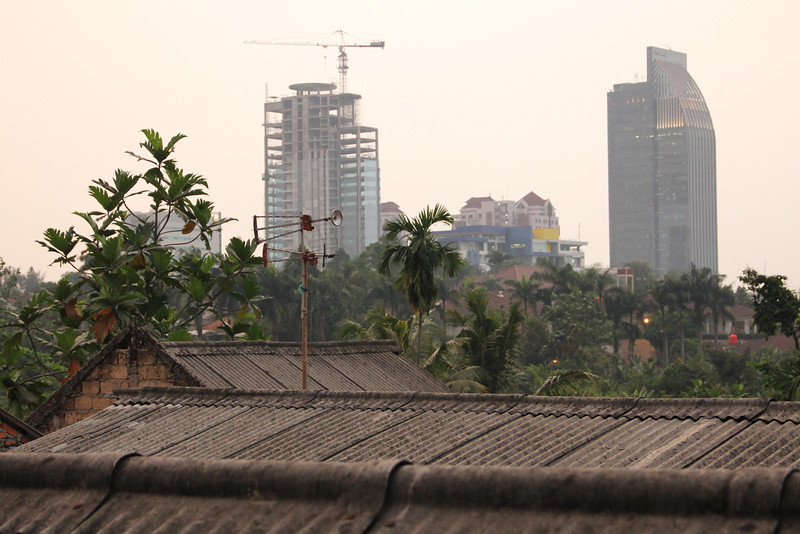 view from the neighborhood i stayed in. jakarta