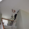 Just out of reach from the loft, required a 20 ft extension ladder.
