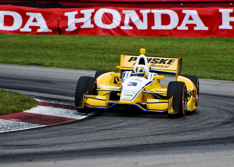 Helio Castroneves at the Mid-Ohio Honda 200...