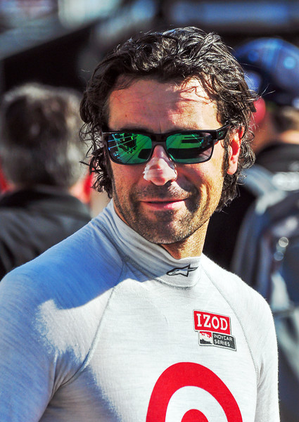 Dario Franchitti at the Indianapolis Motor Speedway...
