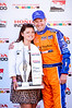 Charlie Kimball at the podium after winning the  2013 Mid Ohio Honda 200...