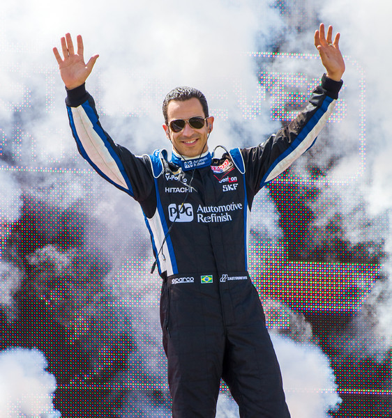 Helio Castroneves at the 2013 Mid Ohio Honda 200...