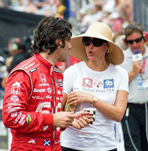 Dario Franchitti and soon-to-be ex-wife Ashley Judd in 2012 at the Indianapolis Motor Speedway...