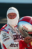 Mario Andretti preparing to give two-seater rides at the Indianapolis Motor Speedway...