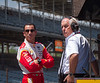 Helio Castroneves and Roger Penske...Indianapolis Motor Speedway