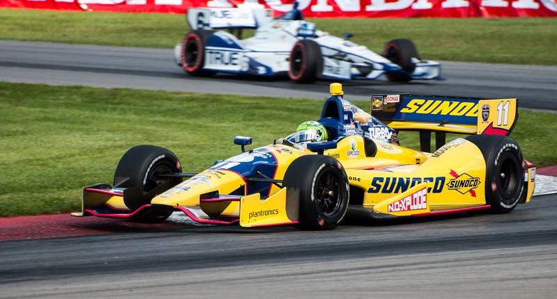 Tony Kanaan at the 2013 Mid Ohio Honda 200...