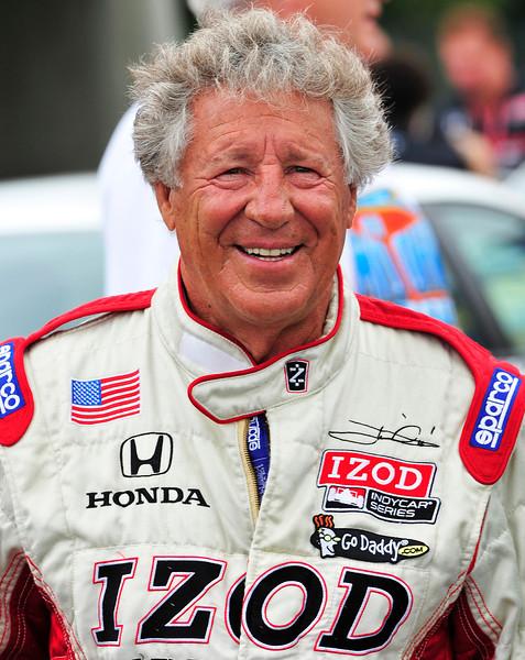 Mario Andretti at the Honda Mid Ohio Indycar race...
