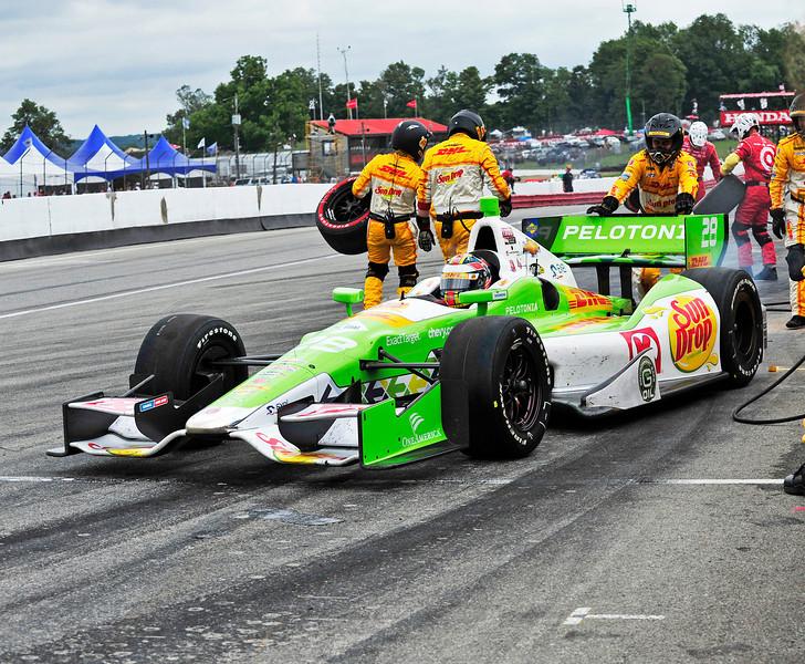Ryan Hunter-Reay at the Mid-Ohio Honda 200...