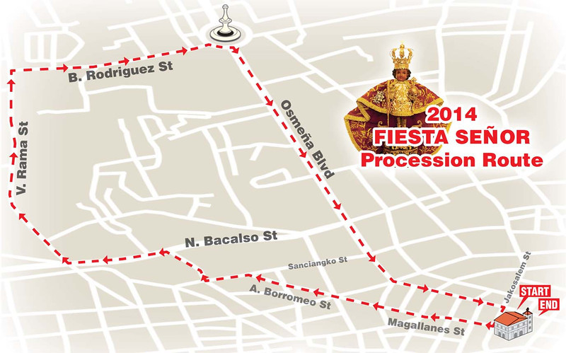 Sinulog 2014 grand parade route
