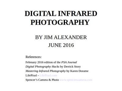 Infra-red Presentation 2016