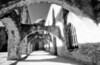MISSION SAN JOSE<br /> San Antonio Missions NHP, San Antonio, Texas<br /> <br /> By far my favorite shot of this little expedition, a nice perspective shot down through the arches. I would really love to go back and shoot it in digital color and see if the effect would be anything near this. I'll bet it wouldn't even come close.