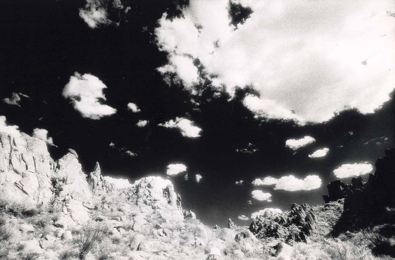 GRAPEVINE HILLS<br /> This otherworldly landscape fit right in with the use of infrared film. This is one place in Big Bend I just can't get enough of.