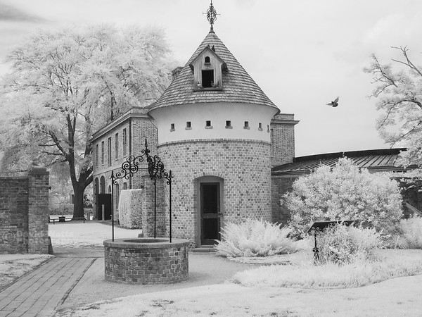 Tryon Palace Rear Courtyard, Infrared
