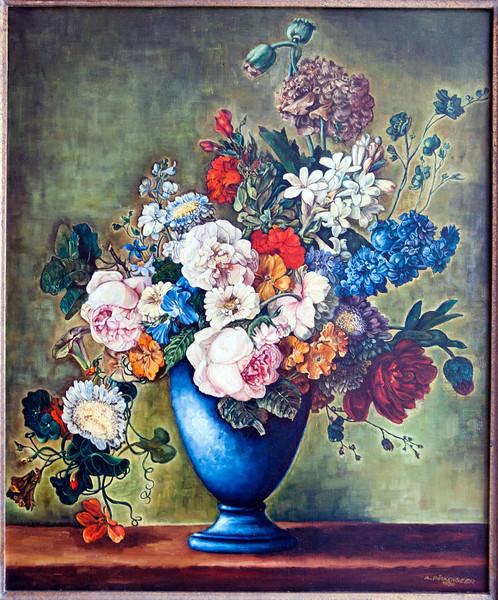 Flowers, oil on canvas, 1980