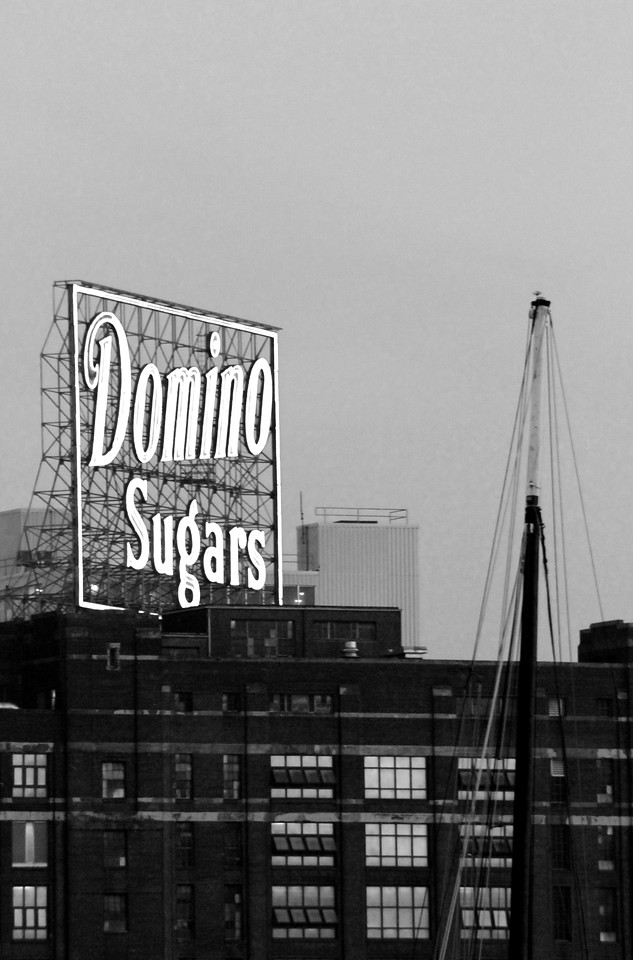 Domino Sugars, so prominent on the Harbor, it held it's own charm.  You don't go to the inner harbor and not see this, it's an old factory but in really nice condition.  It gives the place a grounding in nostalgia that would be lost without it.