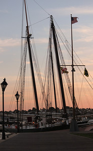 The pride of the Inner Harbor.  She is painted the colors of the sunset and the sea.