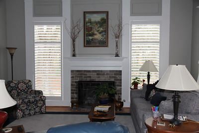 Main room with newly installed shutters