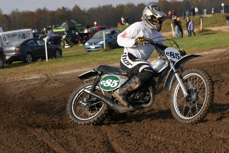 Greg Collis on his 1974 Honda CR250 Elsinore tearing up the track at Gopher Dunes