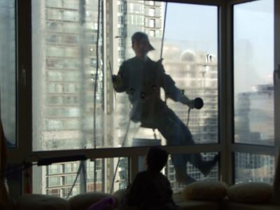 laveurs de carreaux - sur la fenêtre de la chambre de Claire!