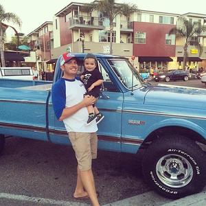 Classic car night in Encinitas #Funfars72ChevyCheyenneK20Super #originalowner #HedmanHedders #SEMA2015 via Instagram http://ift.tt/1NyW42y