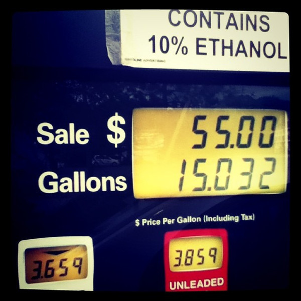 $55 worth! #gas #travel #btv #vt