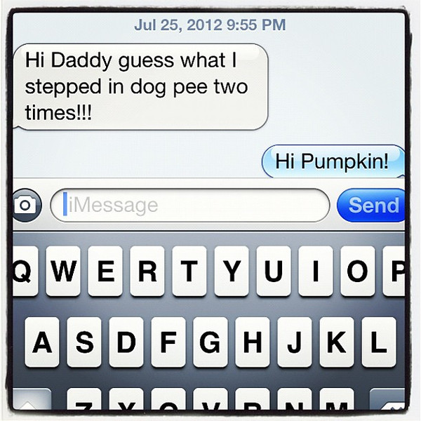 Message from my youngest. Just too cute!