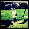 My little monkey girl. #kid #play #swing #btv #Milton
