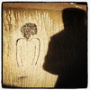 Graffiti and silhouette. #btv