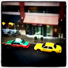 Taxis at #Redmond Town Center. #taxi #cars #yellow
