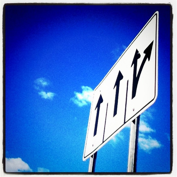 This way up or take a right!! #sign #btv #funny #bluesky #sky