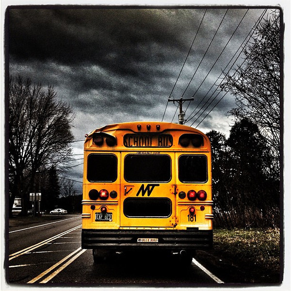 The storm is coming. Get the kids on the bus! #btv #vt