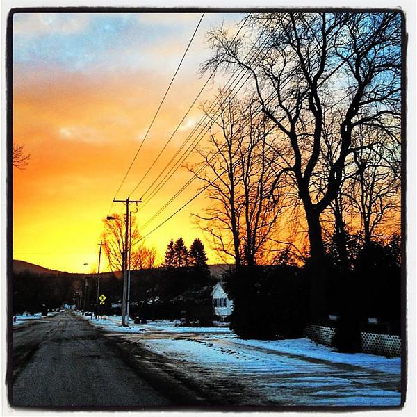 Hump Day Sunrise. #btv #milton #vt