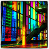 Colored Windows at Palais Des Congres. #montreal