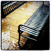 Get your feet wet and enjoy the view. # btv #VT #flood #pier