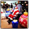 Santa smiles back! #btv #vt #santa