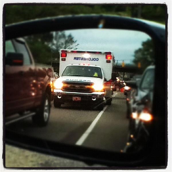 Rear view emergency! #btv #vt