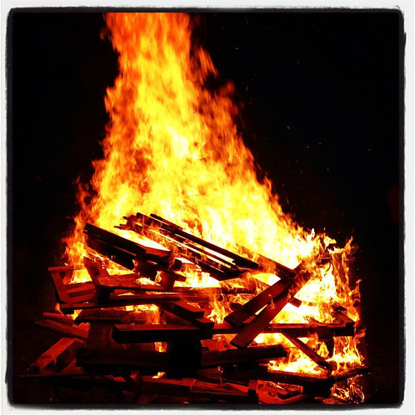 Bonfire at #Milton Winter Festival. #vt