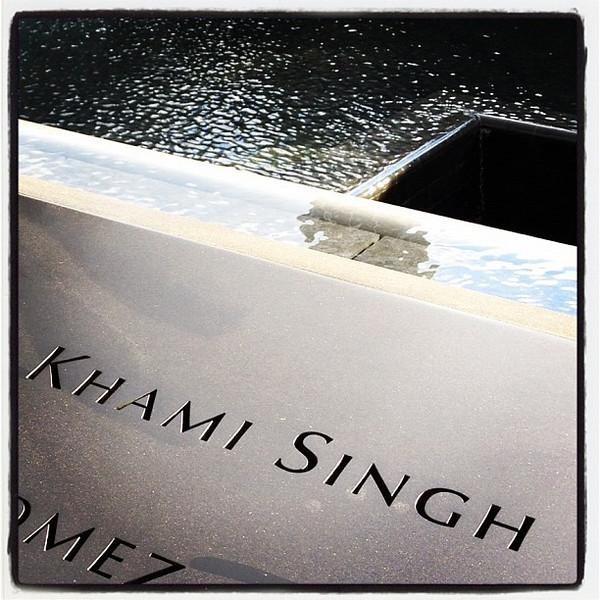 Khamladai Khami Singh - Another #Sikh remembered. #nyc #911memorial #singh