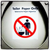 Toilet paper only! No poop allowed! #toilet #aircraft #aviation #waste
