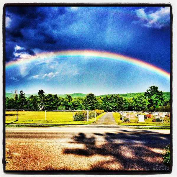 Low Rainbow For The Departed. #miltonvt