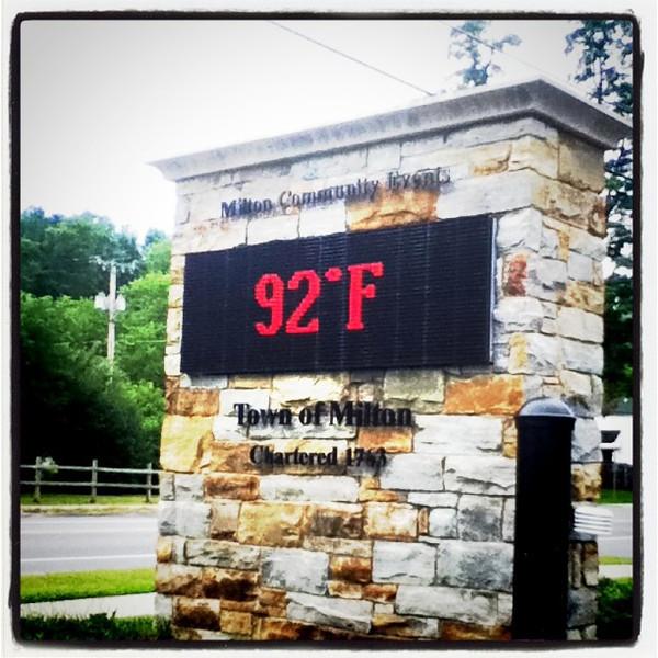 92*F! That's what it says. #milton #temperature #heat #btv